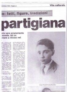 """Sergio Piombelli: non solo il """"nome"""" di una  strada ma di una vita. Storia di un giovane Fiore Partigiano"""