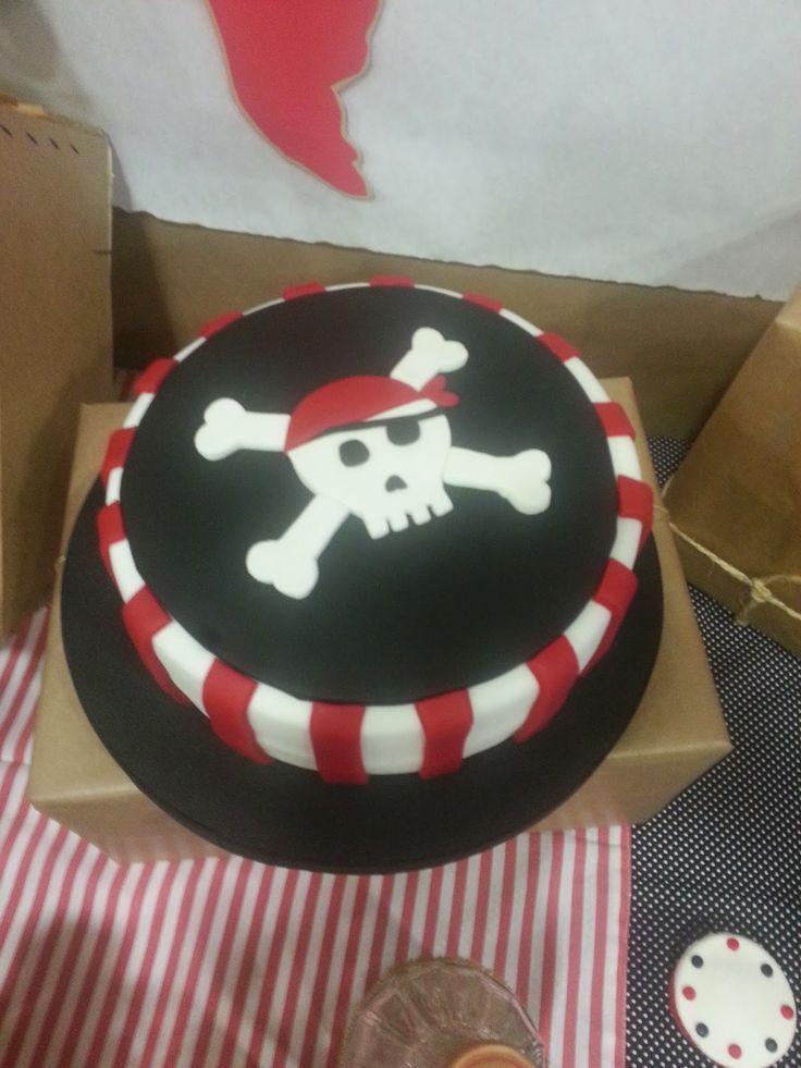 tarta para fiesta de piratas