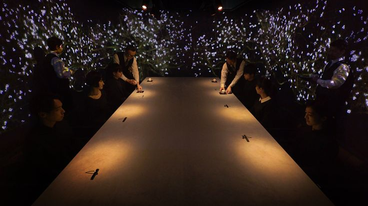 located in tokyo, the exclusive eatery provides diners with a multi-sensory experience that conveys japan's tastes, smells, and scenic beauty.
