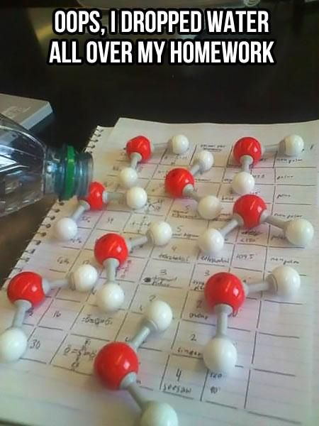 #uvmaxLaugh, Geek Humor, Science Jokes, Nerd Jokes, Spill Water, Chemistry Humor, Funny, Science Humor, Chemistry Jokes