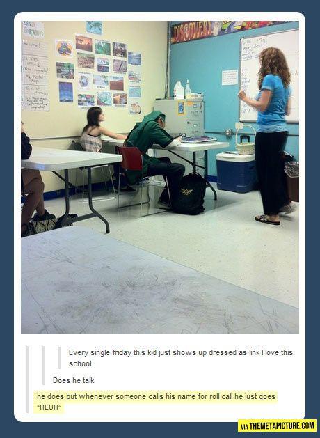 Link costume... haha