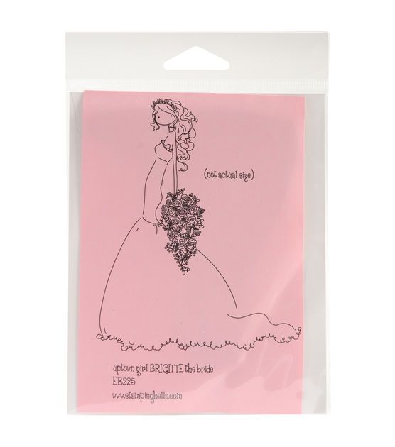 Stamping Bella Unmounted Rubber Stamp-Uptown Girl Brigitte The Bride