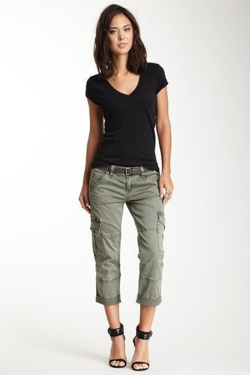 Faded Cargo Capri Pant by Rock Revival on /hautelook/