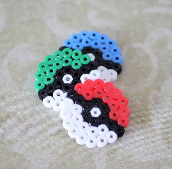 Pokeballs! These could easily be made and turned into keychains, magnets, ect.