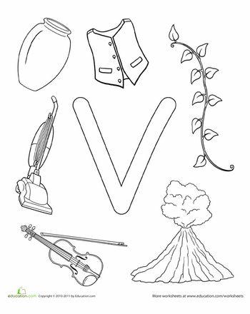Worksheets: V Is For...
