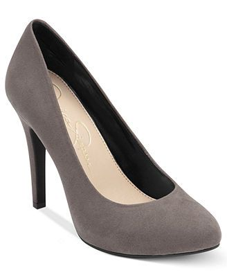 I ABSOLUTELY NEED THESE IN BLACK!!!  I've literally been searching for comfortable black suede pumps without a platform for over a year, and I finally found some! I wouldn't mind having the gray either, but black first! :) Jessica Simpson Malia Pumps