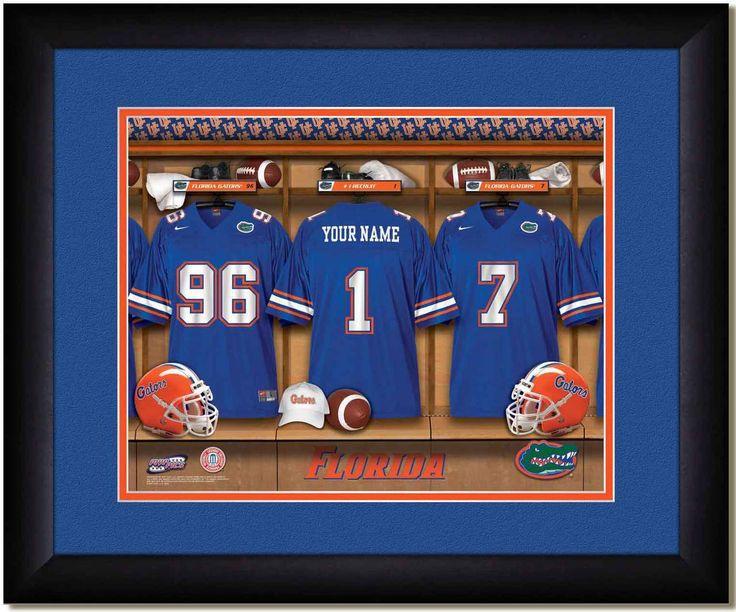 MyTeamPrints.com - Florida Gators Personalized Locker Room Print, $54.99 (https://www.myteamprints.com/florida-gators-locker-room-print/)