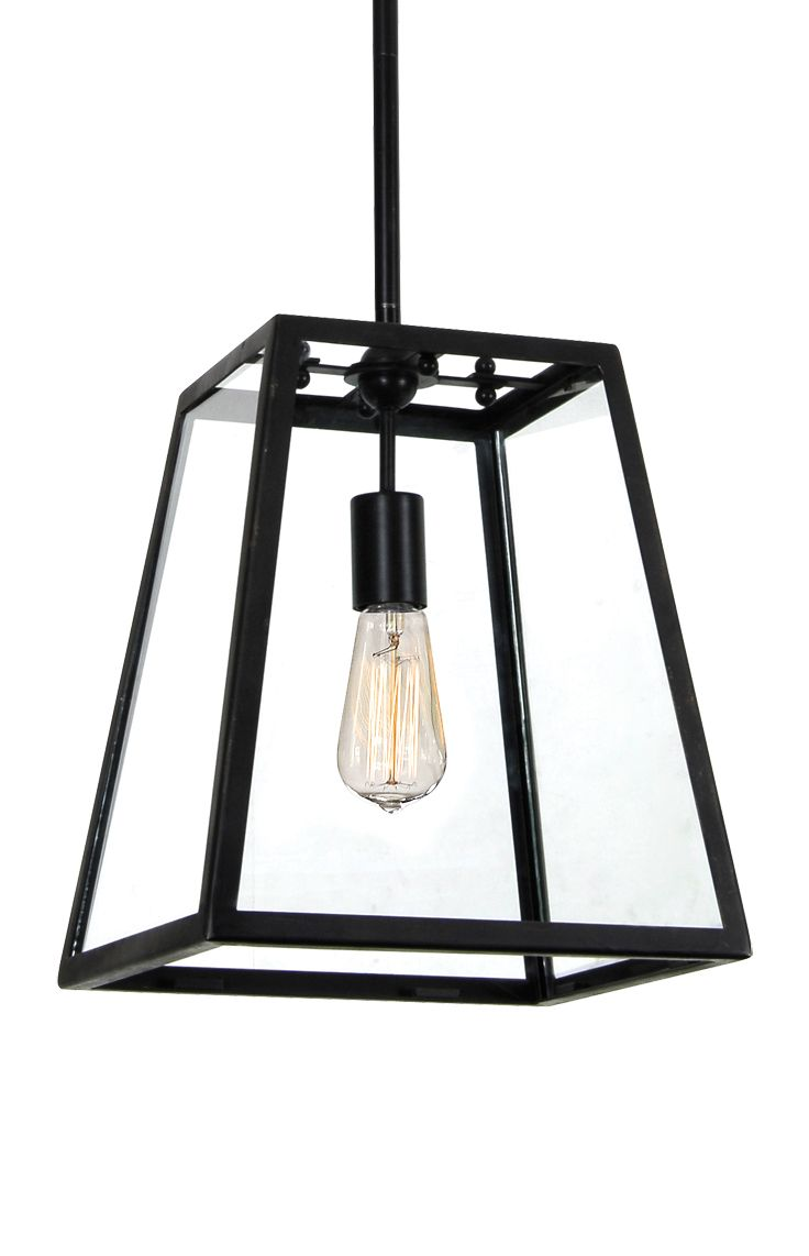 The Beacon Lighting Southampton 1 light traditional pendant in antique black with clear glass offers a classic styling with hints of the Americas.
