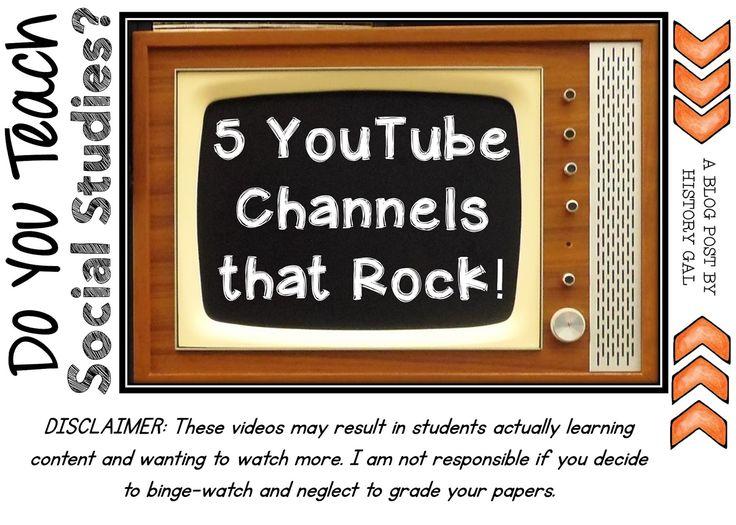 YouTube Channels for Social Studies Teachers