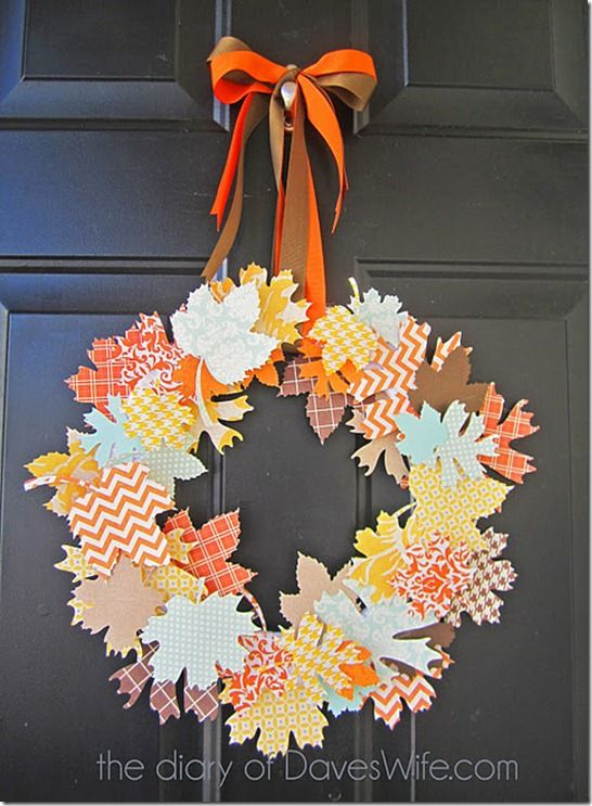 paper leaves fall wreath - I need to get a cricut cartridge that has leaves