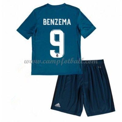 Fotballdrakter Barn Real Madrid 2017-18 Karim Benzema 9 Tredje Draktsett