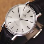 Authentic Omega Geneve Silver Dial Stainless Steel Manual Mens Wrist Watch