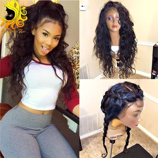 Online Shop 7A Full Lace Human Hair Wigs For Black Woman Brazilian Virgin Hair Water Wave Full Lace Wigs Glueless Lace Front Human Hair Wigs | Aliexpress Mobile