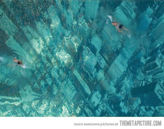Creeeeepyyy!!! Swimming over a sunken city, Bhakti Park, Wadala. Whoa. How do I find this place?