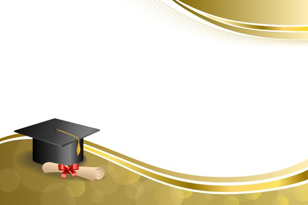 Education Diploma With Graduation Cap And Abstract Background