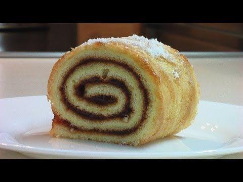 Сладкий рулет за 25 минут видео рецепт ( Sweet roll . eng subtitles) - YouTube