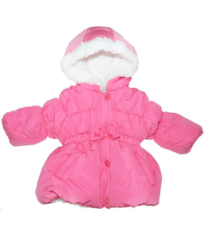 Geaca de iarna roz imblanita - 105 lei