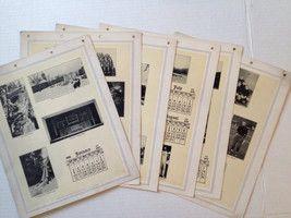 Vintage Cornell University Calendar 1916 Ithaca NY #bonanza #Cornell #ephemera