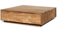 Salon blok teak 100x100 - Salontafels - Tafels | Zen Lifestyle