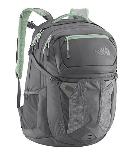 The North Face Womens Recon Backpack (Zinc Grey/Surf Green)