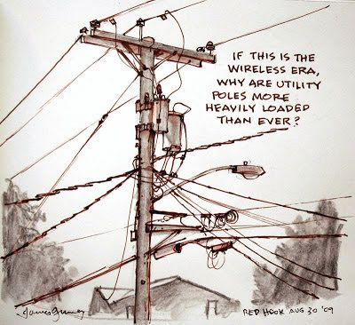 "Commonly called ""telephone poles,"" utility poles carry a lot more than just phone service.      They also conduct electrical power, street ..."