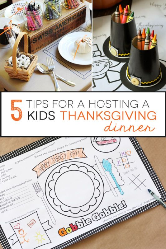 Holidays are tough on little ones, especially when they're expected to sit still for a holiday dinner. Why not take a hint from your favorite family-friendly restaurants? Print off coloring pages with activities and use those as the kids' placemats. Need a spot to stick crayons? Pilgrim hat crayon cups are just the thing. For older kids, Thanksgiving Mad Libs and other games keep them occupied while adults chat. Read on for more eBay tips to host a stress-free kids' Thanksgiving dinner.
