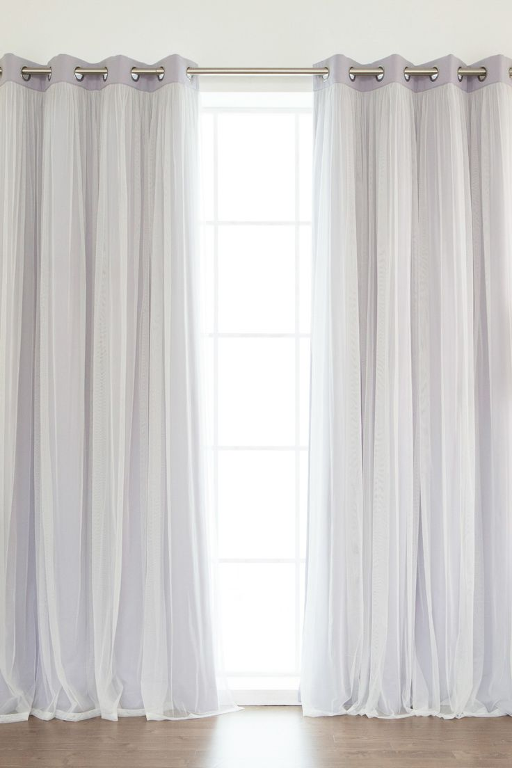 Curtain pair overstock shopping great deals on lights out curtains - Grommet Romantic Thermal Blackout Window Curtain Pair Set Of 2 Lilac By Best Home