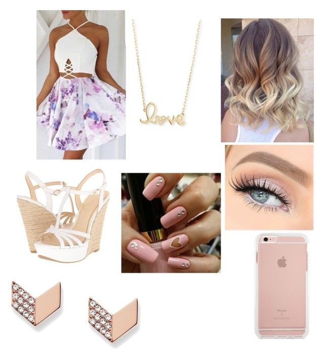 """""""Girly ootd"""" by jaraujo3 on Polyvore featuring Jessica Simpson, Sydney Evan and FOSSIL"""