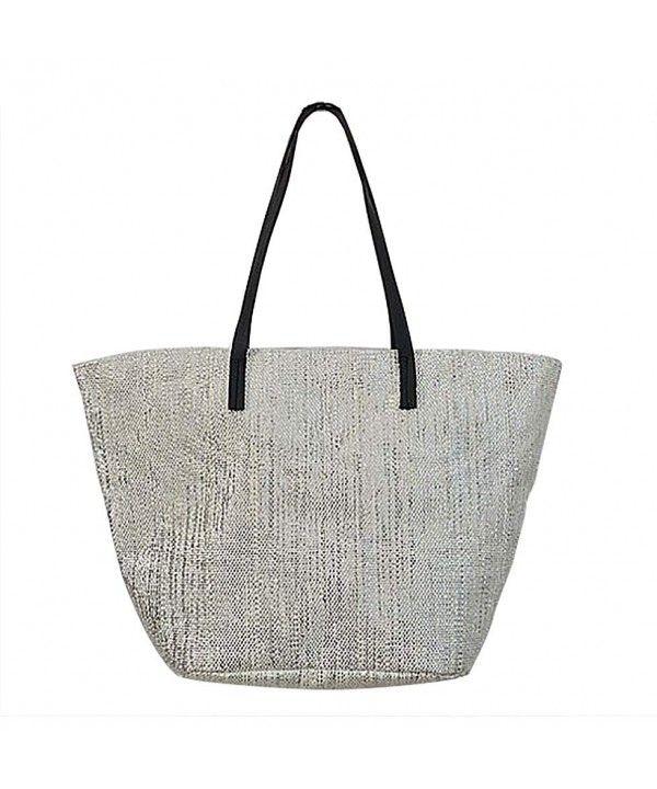 aa62d573c Luggage & Travel Gear, Travel Totes, Beach Bag Mesh Zipper for Women Large  Silver Metallic Shoulder 20 inch - CE17YIK24CU #Bags #Fashion #Handbags  #shopping ...