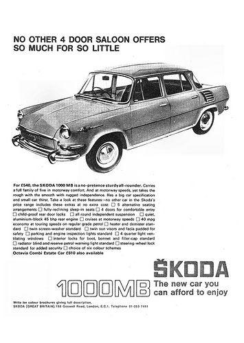 Skoda 1000mb Ad 1967