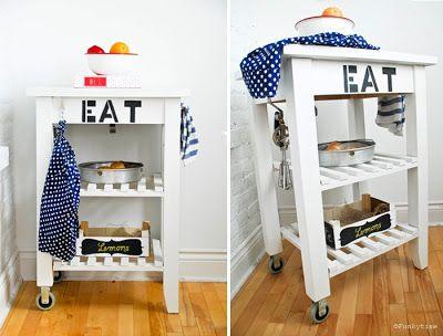 ikea Bekvam Kitchen Cart redo