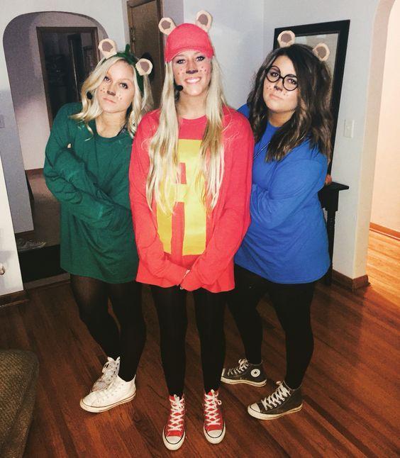 DIY Alvin and the Chipmunks Halloween costume