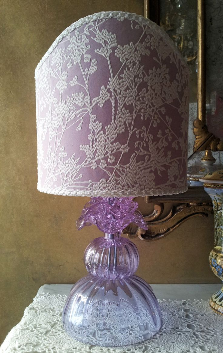 31 best table lamps images on pinterest bespoke carved wood and authentic italian murano alexandrite hand blown glass table lamp with lilac rubelli fabric lamp shade geotapseo Image collections