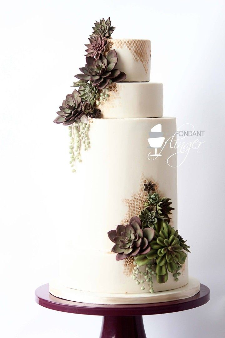 48 Eye-Catching Wedding Cake Ideas - Fondant Flinger