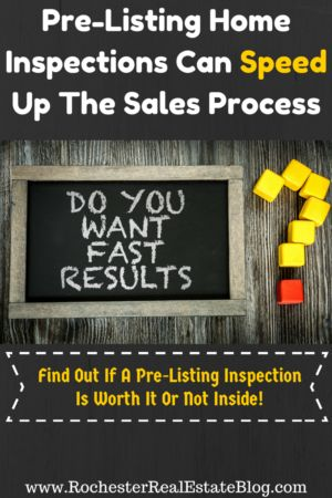 Pre-Listing Home Inspections Can Speed Up The Sales Process