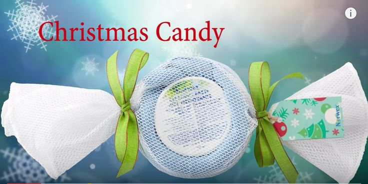 Video tutorial to make your own DYI Christmas candy, perfect gift for the queen in your list, using a green EnviroCloth and a Cleaning Paste jar!