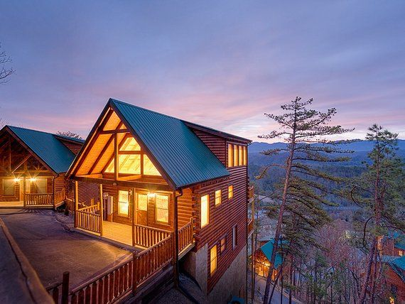 Smoky Mountains Resort Cabin Digital Download Stock Photography