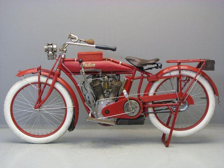 Harley Davidson: 1914 Indian V-Twin 988cc Standard Model Motorcycle. Indian
