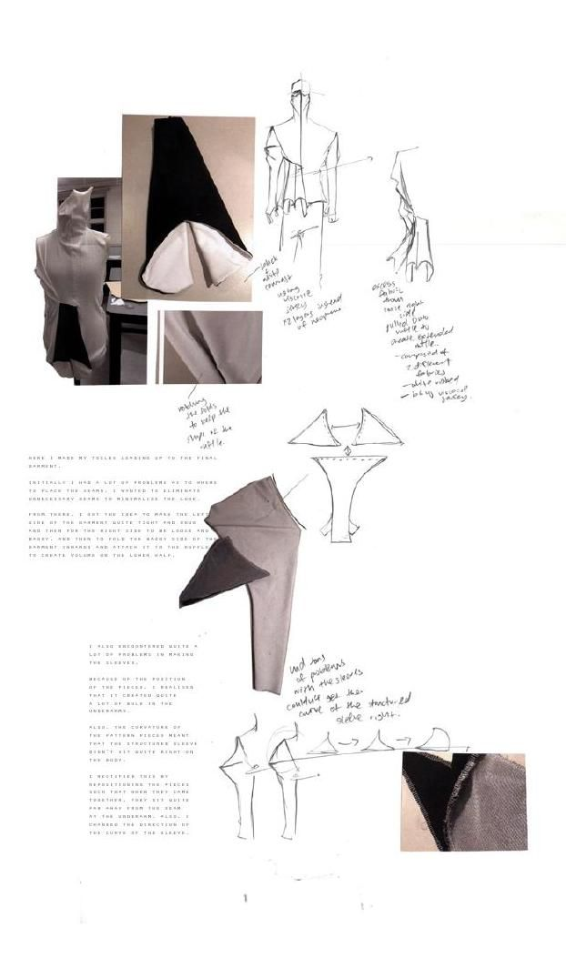 Fashion Sketchbook - fashion design development, fashion sketches & draping // Luke Astro