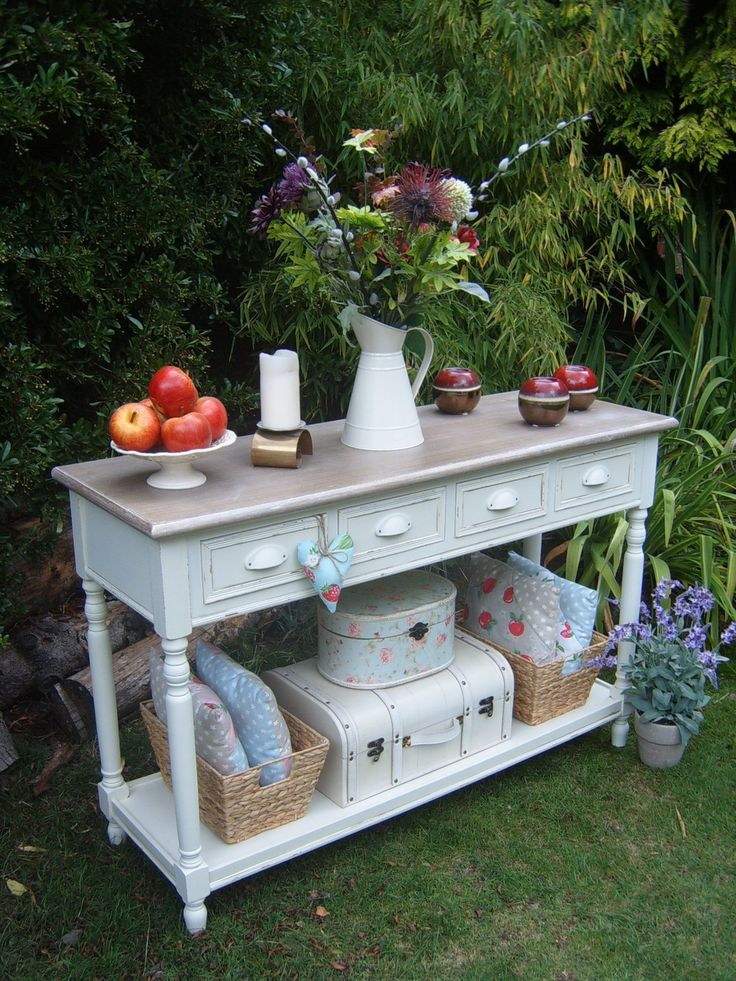 Shabby Chic French Country Cottage Style Cream Console Table Dresser Sideboard | eBay