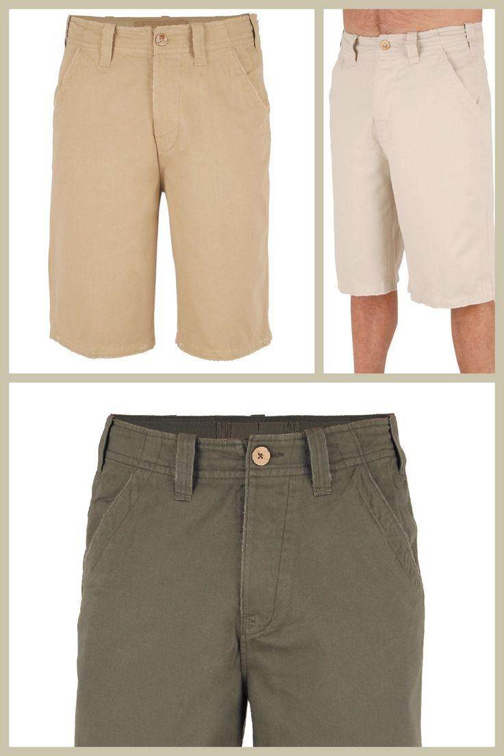 Urban Beach men's deon shorts.  Colours olive khaki and stone £14.99 www.nautirachael.com
