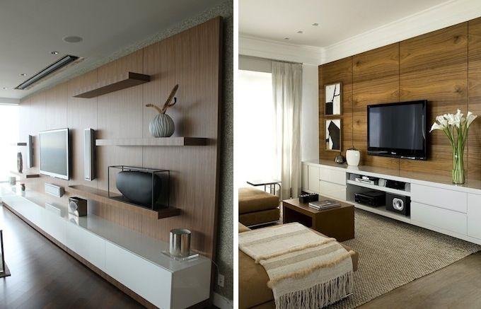 Дизайн гостиной, отделка деревом