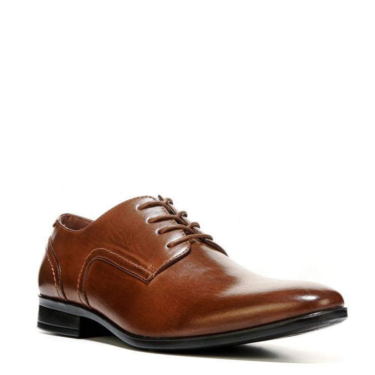 Deer Stags Men's Shipley Plain Toe Oxford Shoes (Dark Tan)