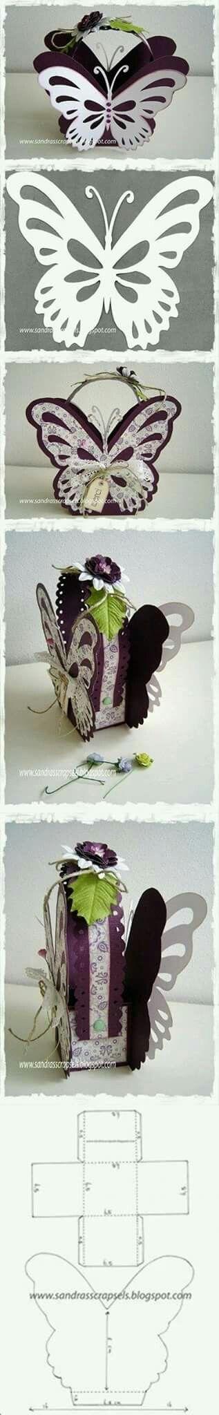 Cajita de mariposa