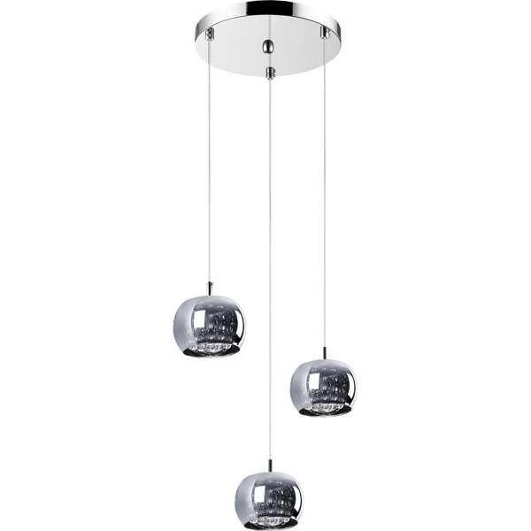 LAMPA wisząca CRYSTAL P0076-03M-B5FZ Zumaline kryształowa OPRAWA szklany ZWIS kaskada chrom