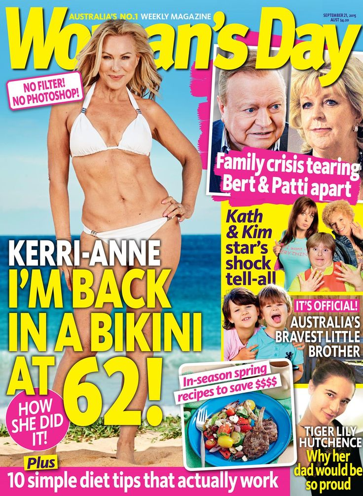 Kerri-Anne Kennerley on the cover of Women's Day in nothing but a bikini & spray tan by Stacey McPherson
