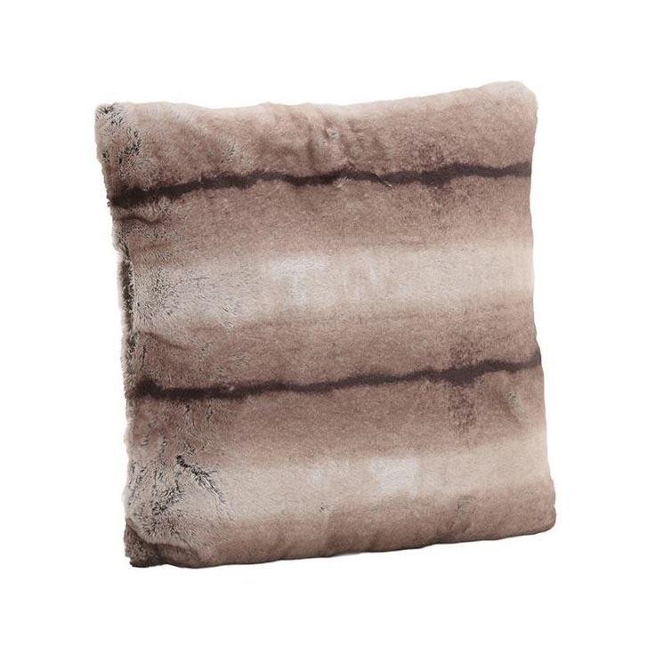 SYNTHETIC FUR CUSHION COVER IN BEIGE-BROWN COLOR 60X60 - Furs - FABRIC ITEMS