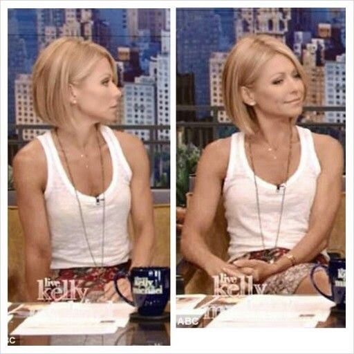 Love Kelly Ripa's new hairstyle! Wish I knew if it would look good on me.