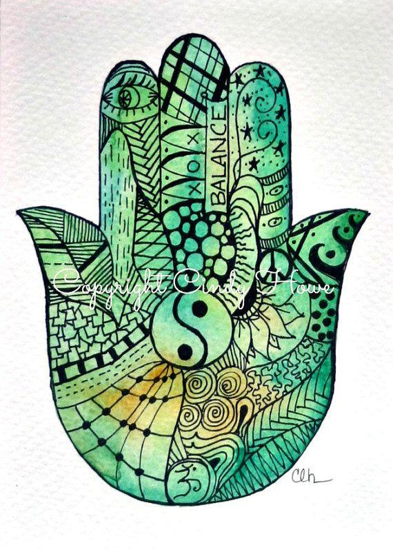 Digital art, digital download,Hamsa Hand, Hamsa, Hand, Zentangle art, Zentangle, Hamsa art, Hamsa hand art