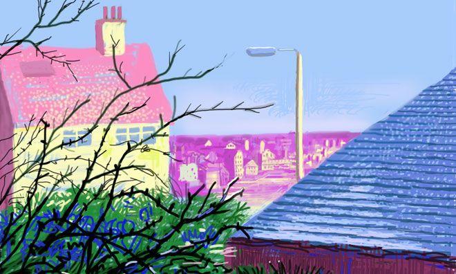 David Hockney - Målad på iPad 7 dec 2010